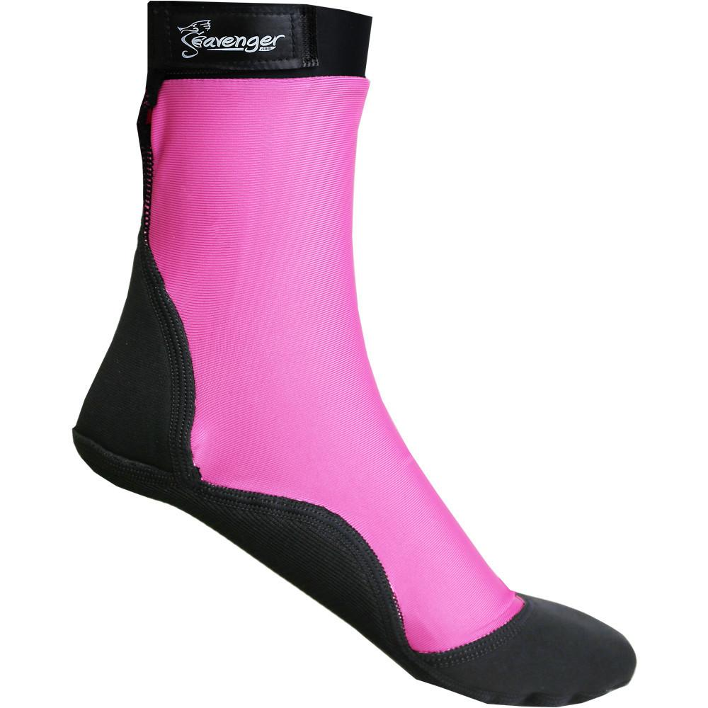 Tall pink beach socks for sand volleyball and soccer