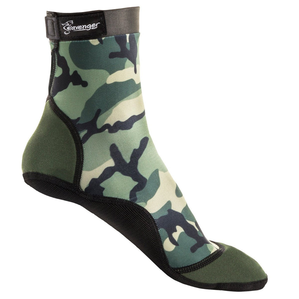tall camo beach socks for outdoor volleyball and beach soccer
