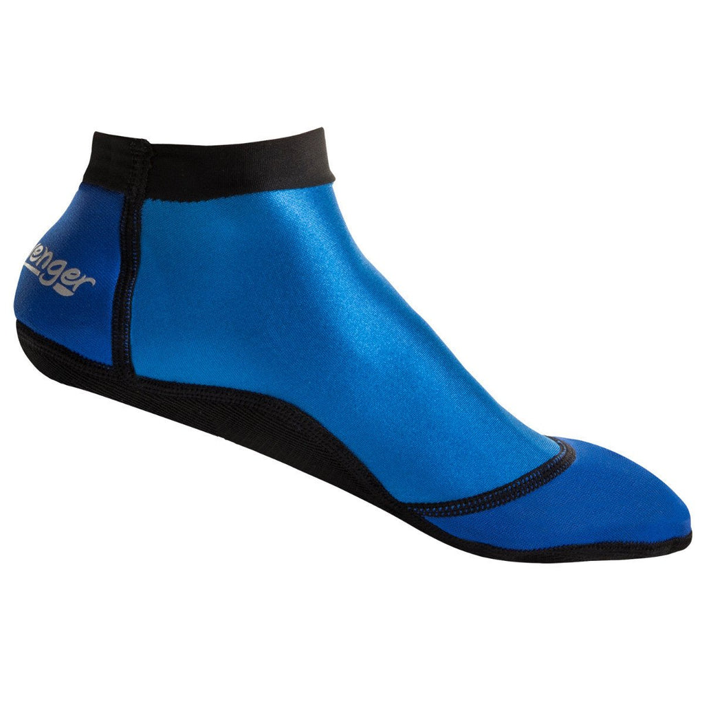 Short blue beach socks for sand volleyball and soccer