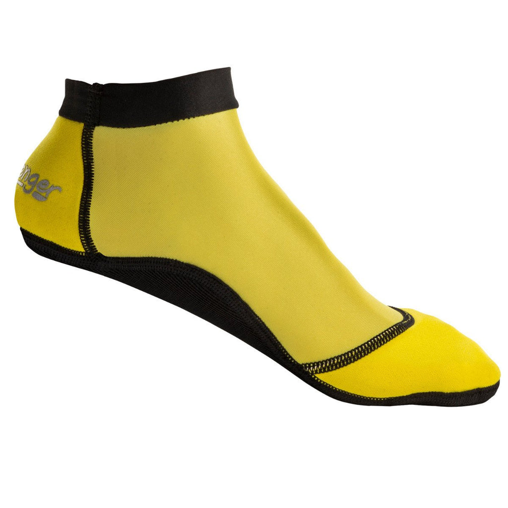 short yellow beach socks for sand volleyball and soccer