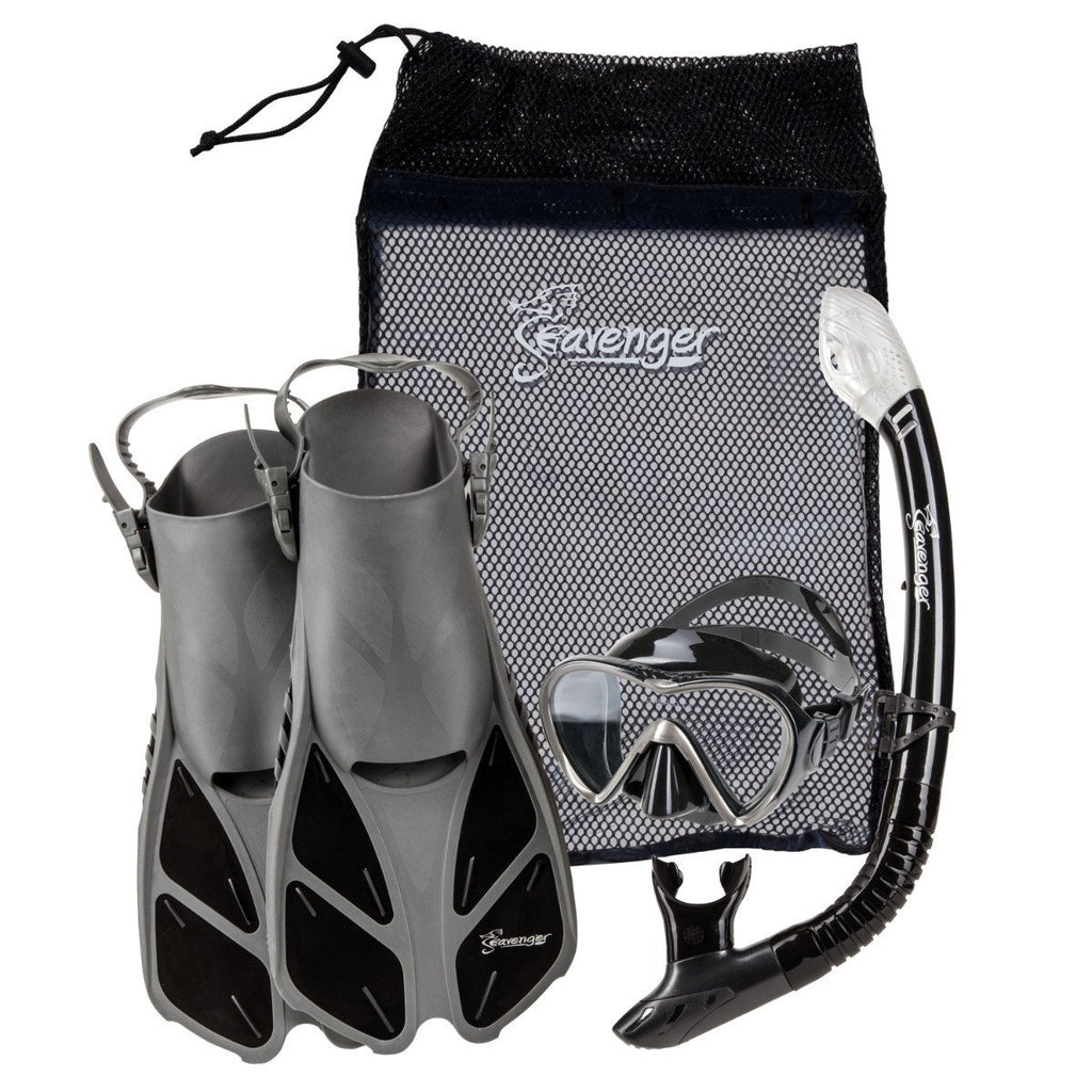 black seavenger snorkel set