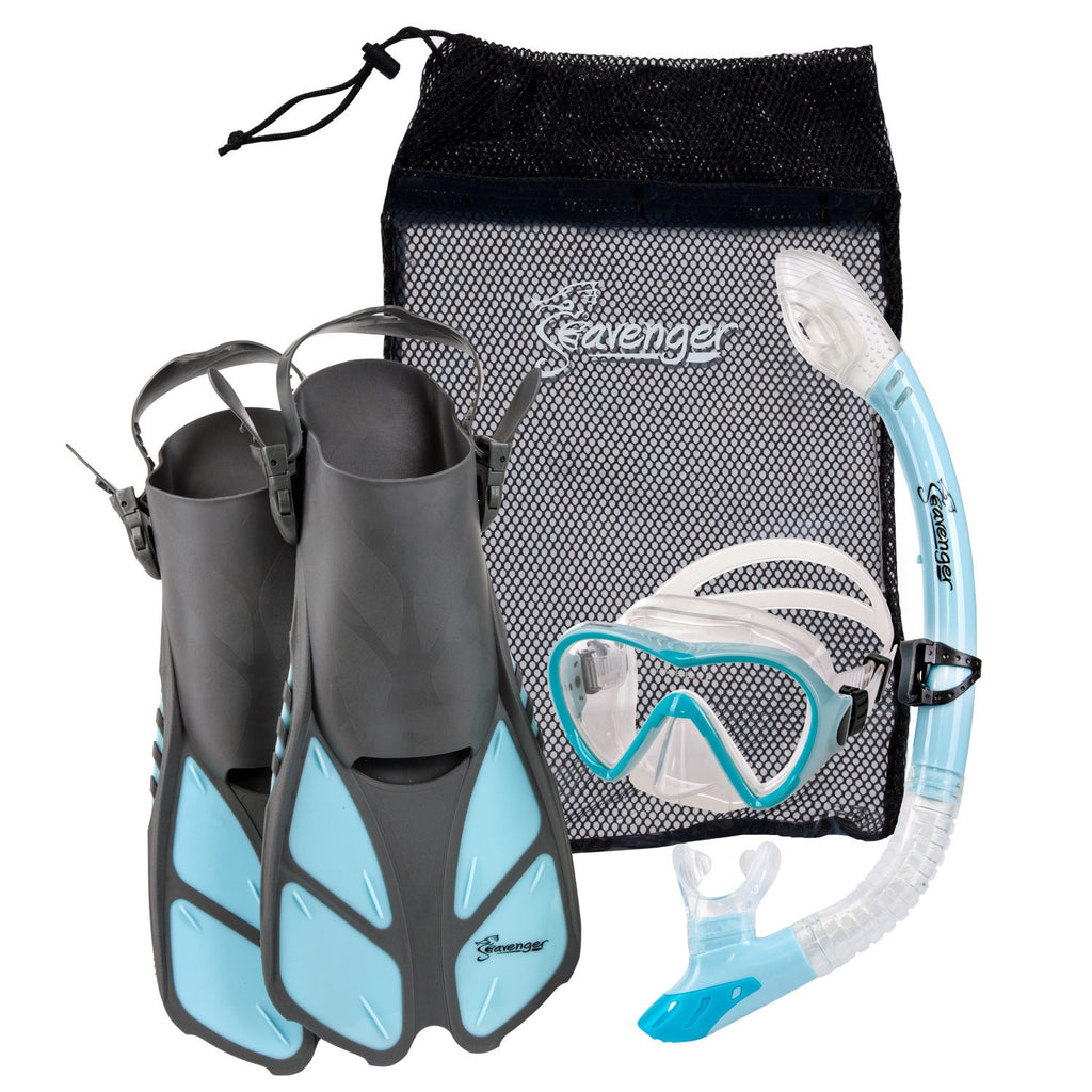 light blue Seavenger snorkel set