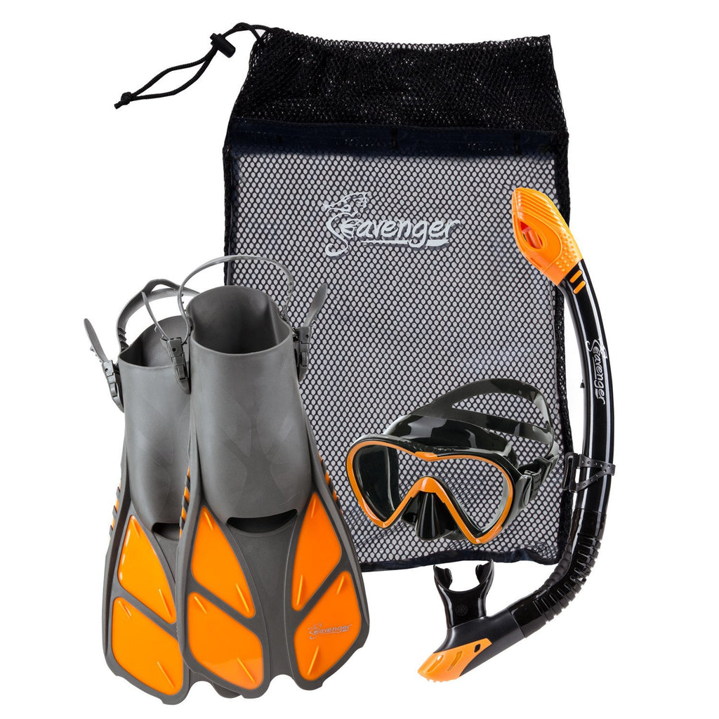 orange Seavenger snorkel set