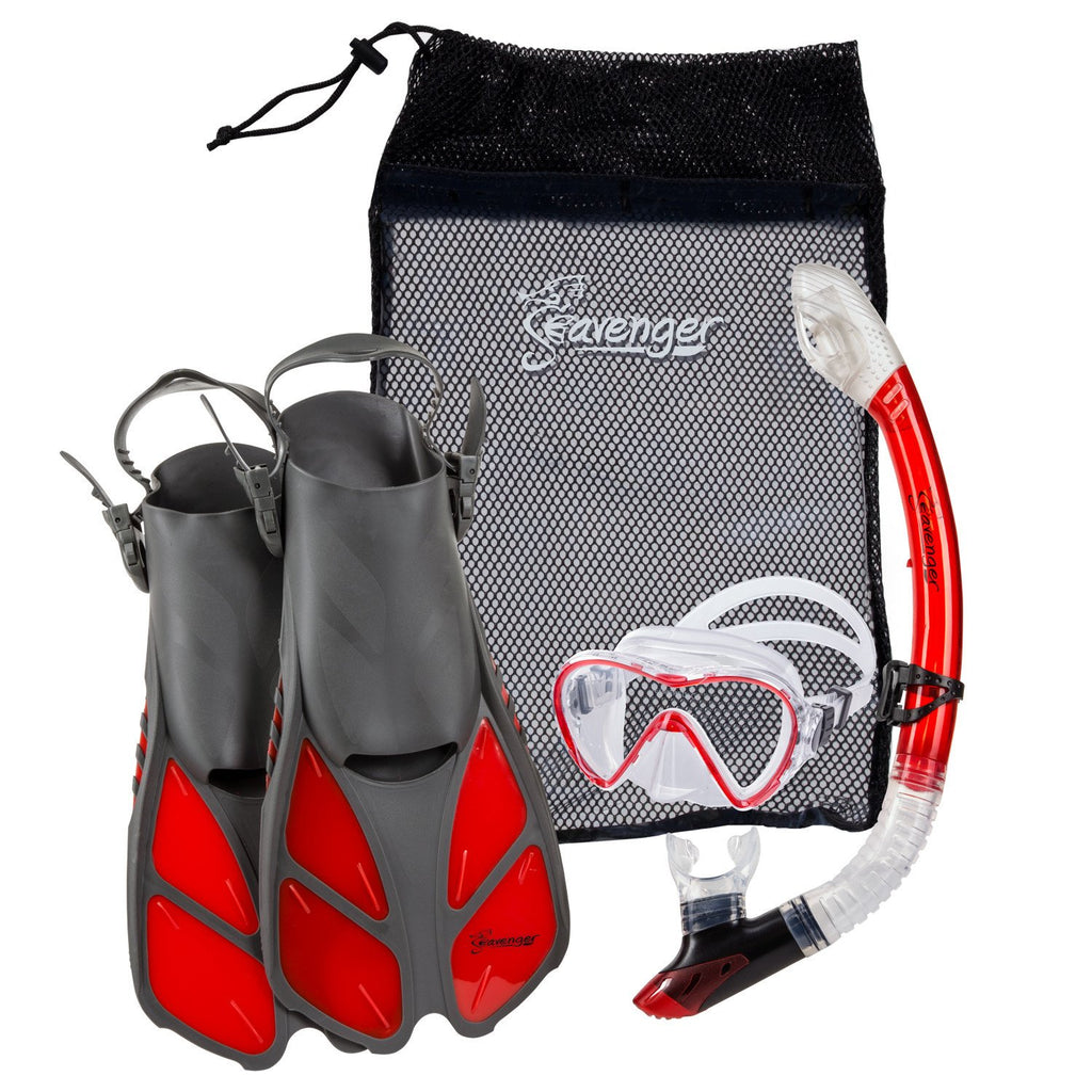 red Seavenger snorkel set