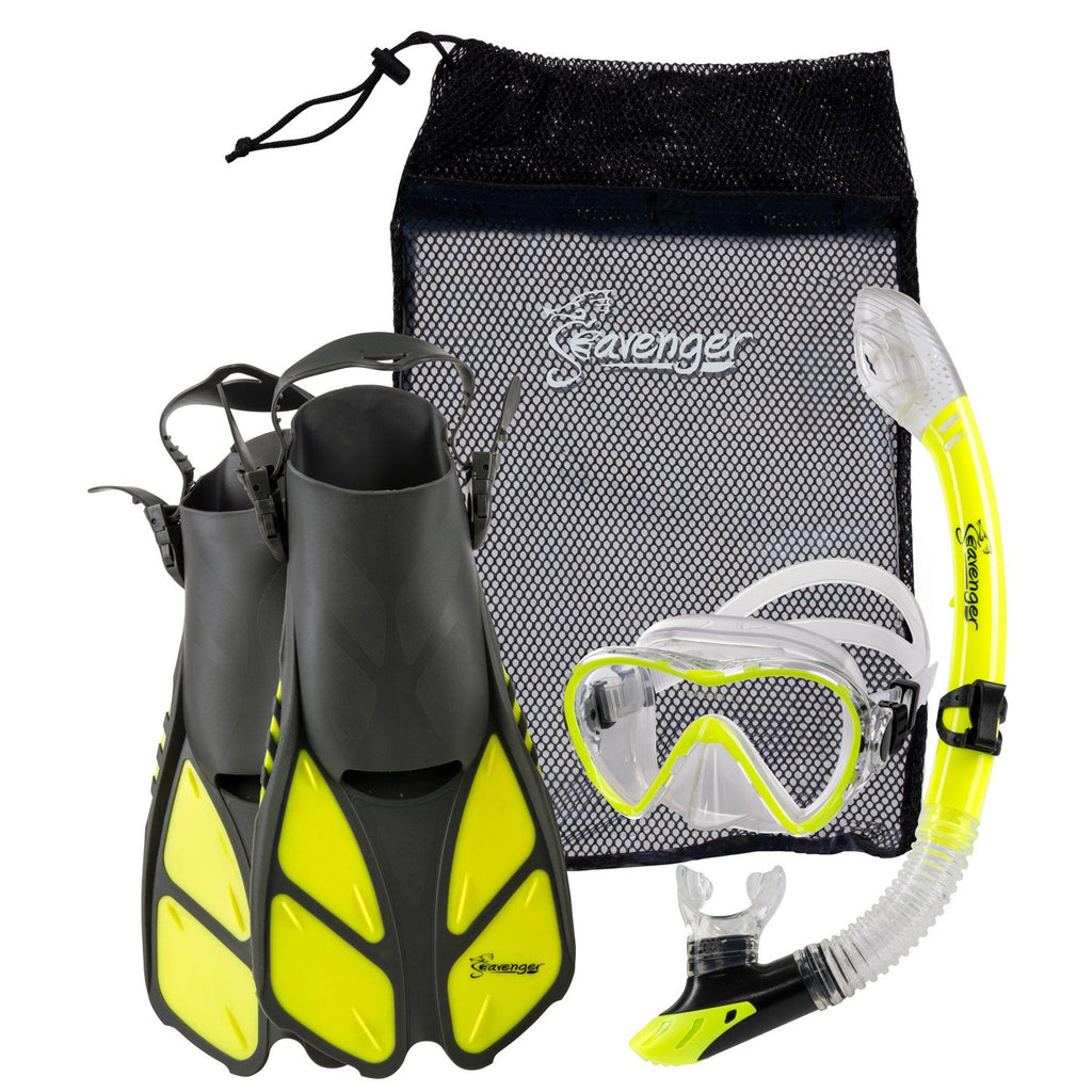 yellow snorkel set