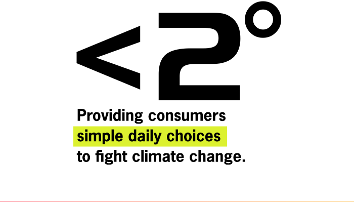 Providing consumers simple daily choices to fight climate change.