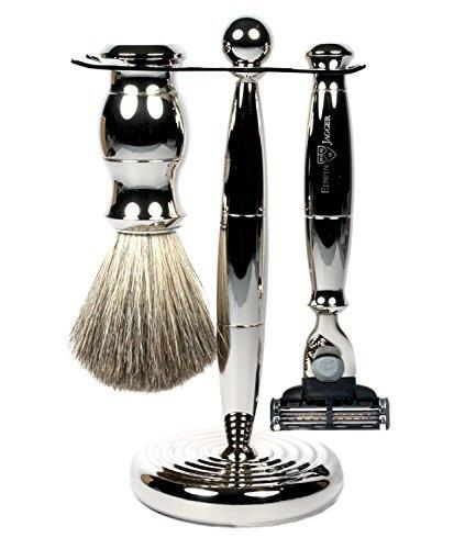Edwin Jagger Mach 3 3pc Shaving Set Nickel S81M71911