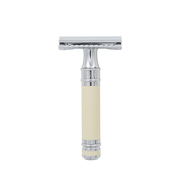 Edwin Jagger DE Safety Razor Ivory/Chrome Lined DE87BL