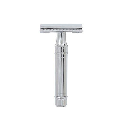 Edwin Jagger DE Safety Razor Chrome Lined DE89BL