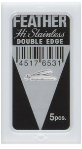 Feather Hi-Stainless Double Edge Razor Blades 5ct