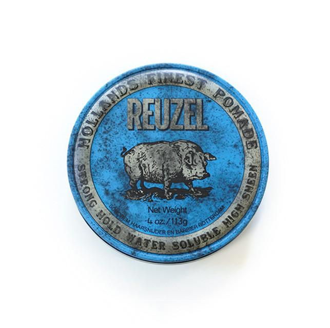 Reuzel Blue Strong Hold High Sheen Pomade 1.3oz