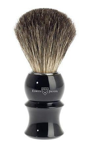 Edwin Jagger Shaving Brush Pure Badger Ebony Handle 81P16
