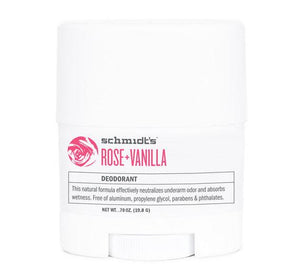 Schmidt's Natural Deodorant Travel Stick Rose + Vanilla 0.7oz
