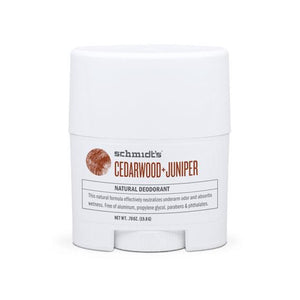 Schmidt's Natural Deodorant Travel Stick Cedarwood + Juniper 0.7oz