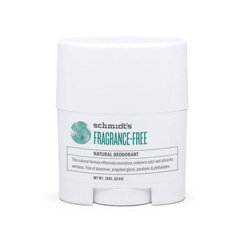 Schmidt's Natural Deodorant Travel Stick Fragrance-Free 0.7oz