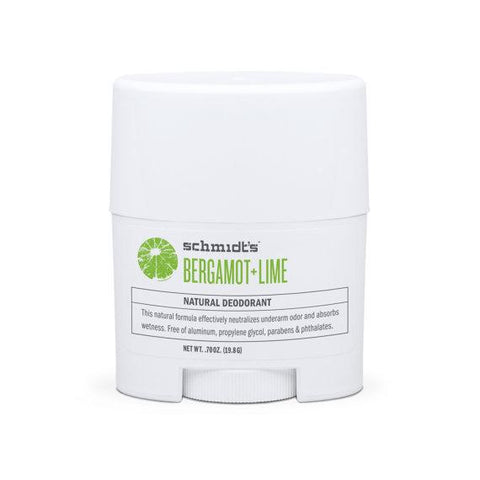 Schmidt's Natural Deodorant Travel Stick Bergamot + Lime 0.7oz