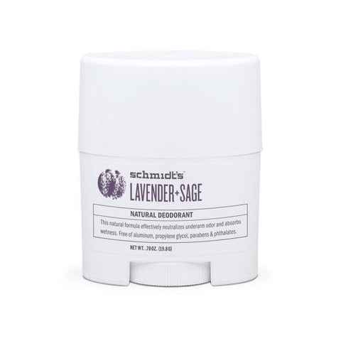 Schmidt's Natural Deodorant Travel Stick Lavender+Sage 0.7oz