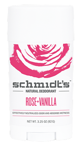 Schmidt's Natural Deodorant Stick Rose + Vanilla 3.25oz