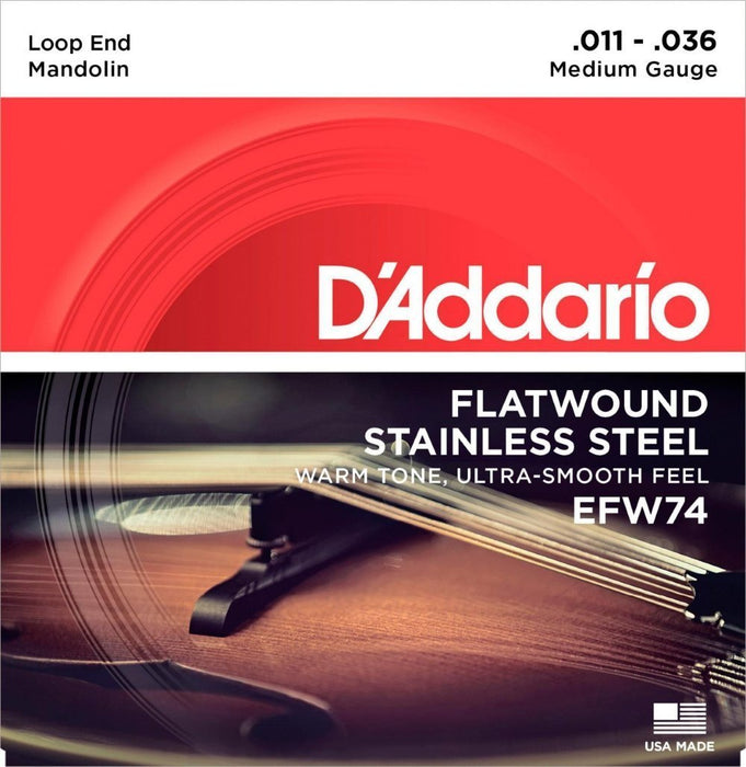 D'Addario EFW74 Mandolin String Set Spokane sale Hoffman Music 019954910693