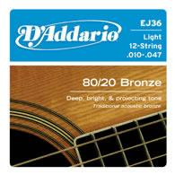 D'Addario EJ36 Acoustic Guitar String Set Spokane sale Hoffman Music 019954122140