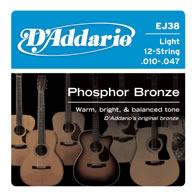 D'Addario EJ38 Acoustic Guitar String Set Spokane sale Hoffman Music 019954121181