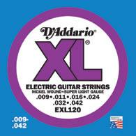 D'Addario EXL120 Electric Guitar String Set Spokane sale Hoffman Music 019954141295
