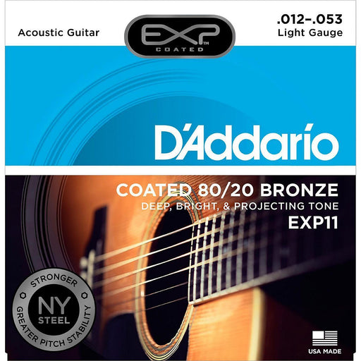 D'Addario EXP11 Acoustic Guitar String Set Spokane sale Hoffman Music 019954938765