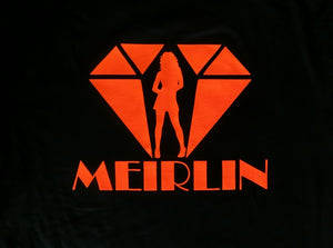 MEIRLIN BACK LOGO TEE - BLACK