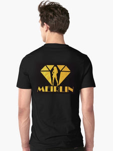 MEIRLIN BACK LOGO TEE - BLACK x YELLOW [S-2XL]