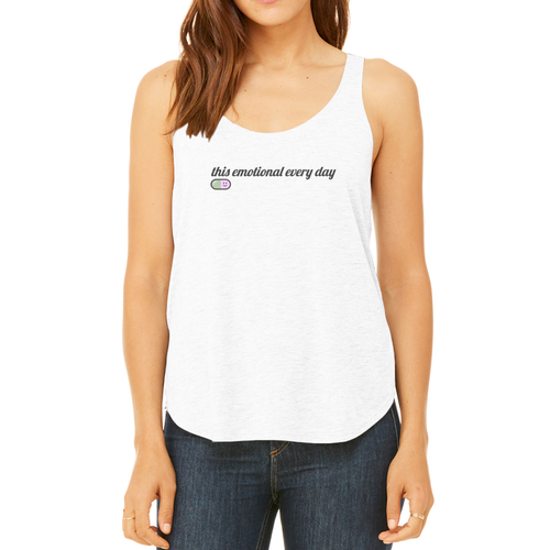 Emotional Flowy Side Slit Tank
