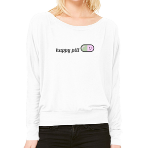 Happy Pill Flowy Long Sleeved Tee
