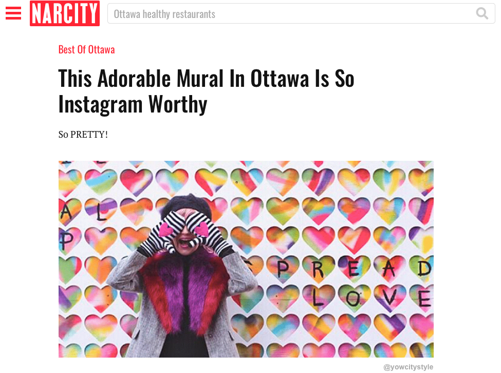 "We're featured in Narcity Canada ""Best of Ottawa"""