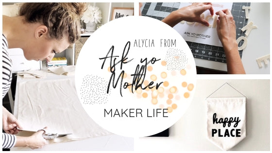 Ask yo mother, canvas banners, wall banners canada, made in canada, handmade wall banner, freewheeling craft markets, ottawa crafts, ottawa makers, ottawa craft markets
