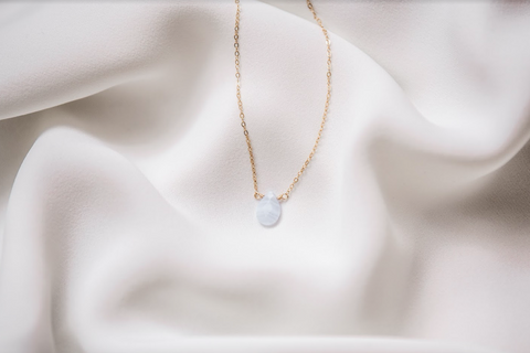 Blue Lace Agate 14K Gold-Filled Necklace