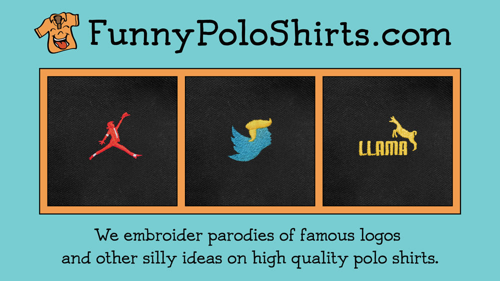 Watch our YouTube commercial for Funny Polo Shirts!
