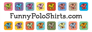 Funny Polo Shirts slideshow logo - Silly Collared Polos