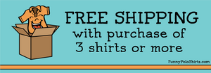Free Shipping - Funny Polo Shirts - Collared Shirt Out of Box