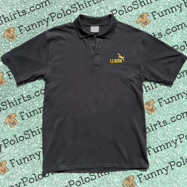 Llama - Puma Parody - Funny Polo Shirt - Polo Preview