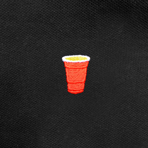 The Foamy Grail -  Red Solo Cup Parody - Funny Polo Shirt - Zoomed
