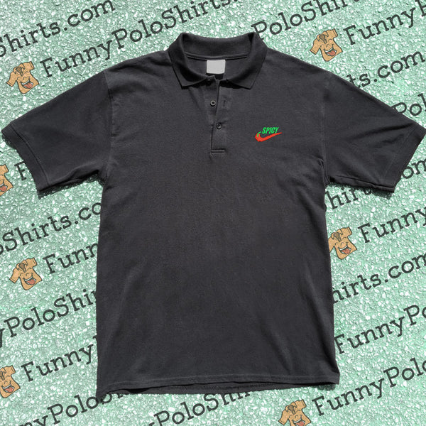 Spicy - Nike Air Parody - Funny Polo Shirt - Polo Preview