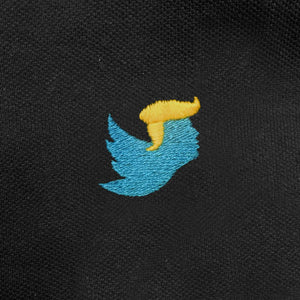 Tweety Trump - Twitter Parody Polo - Funny Polo Shirt - Zoomed