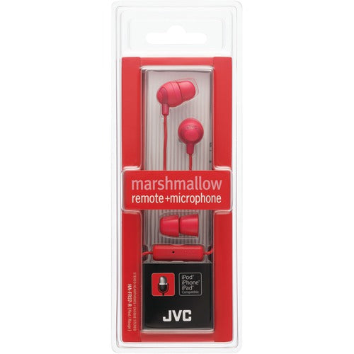 Jvc Marshmallow Inner-ear Earbuds With Microphone & Remote (red)