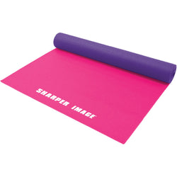 Sharper Image 5mm 2-tone Reversible Yoga Mat (pink)