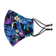 The Ergo Face Mask with Filter Pocket - Tropical Print, Black