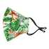 The Ergo Face Mask with Filter Pocket - Tropical Print, White