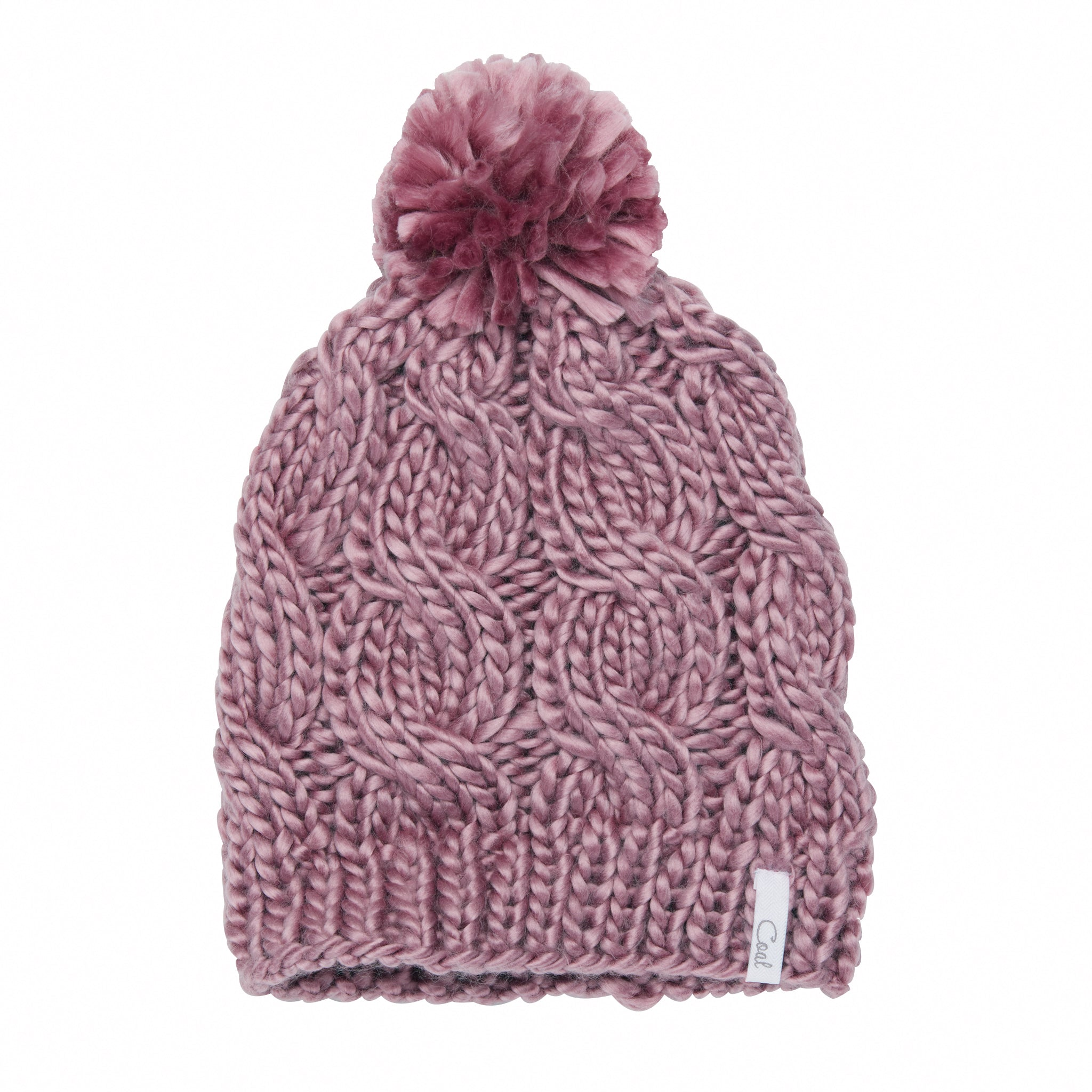 Wool Hat with Pom Ready to Ship Pom Pom Hat Winter Knitted Hats for Women Wool Cable Knitted Hat Blue Beanie