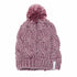 The Rosa Cable Knit Silky Pom Womens Beanie