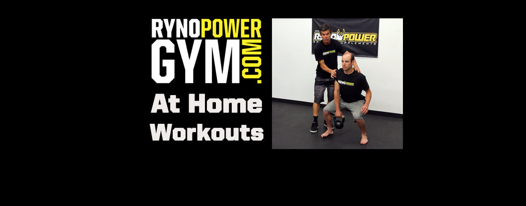 Ryno Power Gym at Home Workouts w/ Trainer Ryan Hughes! KETTLE BELL CLEAN