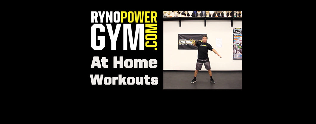 Ryno Power Gym at Home Workouts w/ Trainer Ryan Hughes! RENEGADE SQUAT