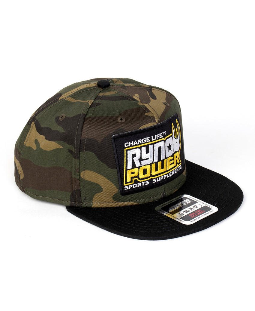 Camo Snapback Hat w/ Black Bill